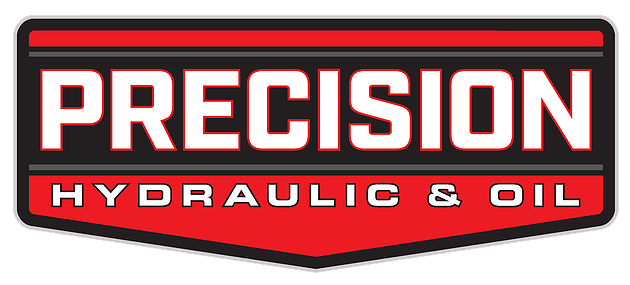 Precision hydraulic and oil logo